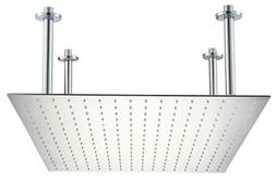 """ALFI brand RAIN24S-PSS 24"""" Square Polished Solid Stainless S"""