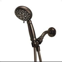 Bronze Hand Held Shower Head 5 Setting Massage Wide Spray 60