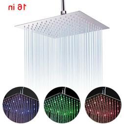 Brushed Nickel Bathroom 12-in Square Rainfall Shower Head Ul