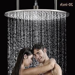 Senlesen Ceiling Mounted Bathroom 20-inch Round Rainfall Big