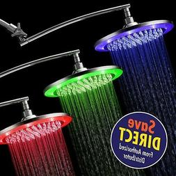HotelSpa 10 Inch Color Changing Rainfall LED Shower Head wit