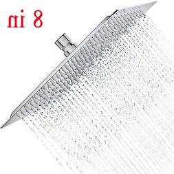 Chrome 304 Stainless Steel 8 in Square Rain Shower Head Ultr