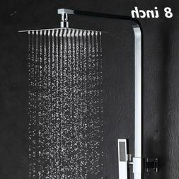 8 inch Square Rainfall Shower Head Stainless Steel Ultra Thi