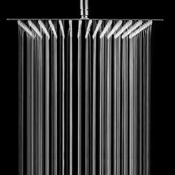 Chrome 16  Inch Square Stainless Steel Shower Head -Rainfall