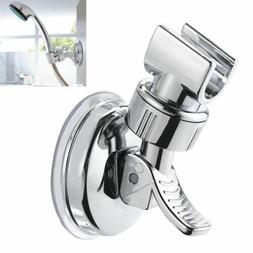 Chrome Adjustable Bracket Suction Shower Head Handset Holder
