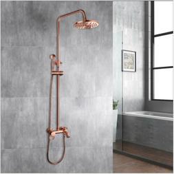 Antique Copper Rainfall Shower Head/Hand Spray Faucet Set Mi