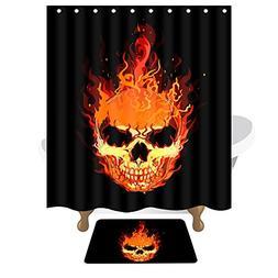 Creative Printing Shower Curtain,Bathroom Waterproof Hanging
