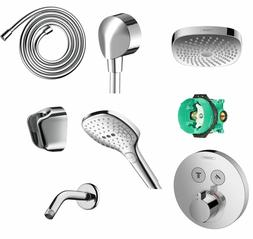 HANSGROHE CROMA SELECT E 180 SHOWER COMBO SET IN CHROME