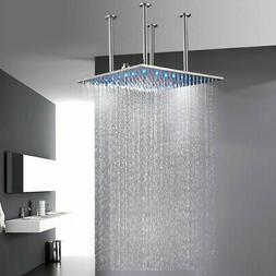 Crystal Handles LED Golden Widespread Faucet Vanity Bathroom