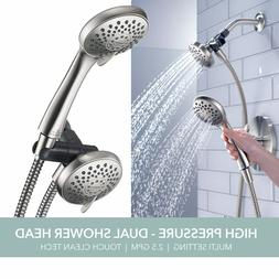 Delta Peerless Faucet 3-Spray Dual Shower Head Handheld Comb
