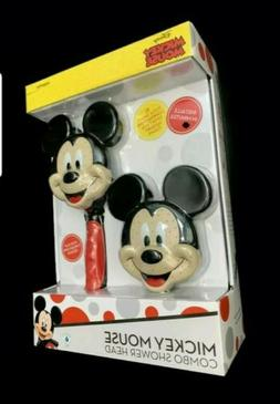 Disney Mickey Mouse Combo Shower Head Hand Held and Fixed Sh