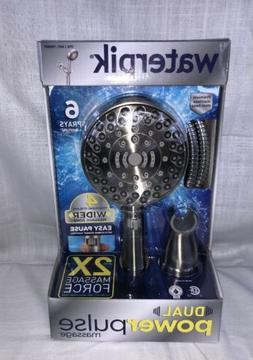 Waterpik Dual PowerPulse Handheld Massage Shower Head Brushe