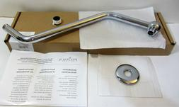S Extension Brass Shower Arm with Flange, Polished Chrome, T