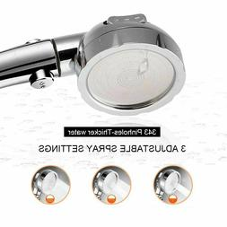 Filters High Pressure OFF/ON Shower Head Water Saving Adjust