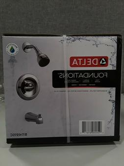 Delta Foundations Chrome 1-Handle Bathtub and Shower Faucet