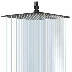 GGStudy 16 Inch Square Stainless Steel Shower Head Rain Styl