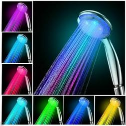 NEW Colorful Head Home Bathroom 7 Colors Changing LED Shower