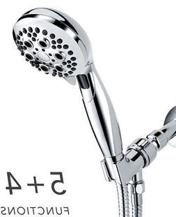 Handheld Shower Head, Wassern High Pressure 9 Setting 74 Jet