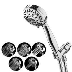 Handheld Shower Head, Ahbbry 5 Setting Showerhead Set Water