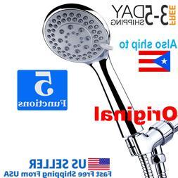 Handheld Shower Head set High Pressure 5 Setting with hose 5