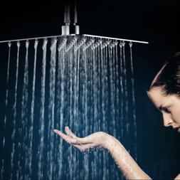 High Pressure 12Inch Square Metal Rain Shower Head Rainfall
