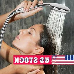 High Pressure 5 Setting Dual Handheld Shower Head Faucet Wit