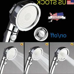 High Pressure Water Shower Handheld Head with ON/Off Pause S