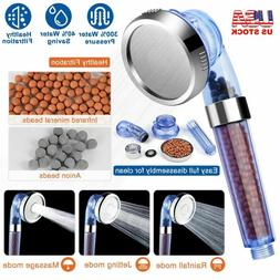 High Turbo Pressure Shower Head Filtered Ionic Stone Stream