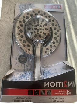 Delta In2ition 4-Spray 2-in-1 Hand Shower and Shower Head Co