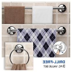 Hotelspa Insta Mount Bathroom Accessories 3 Pc Value Set . G