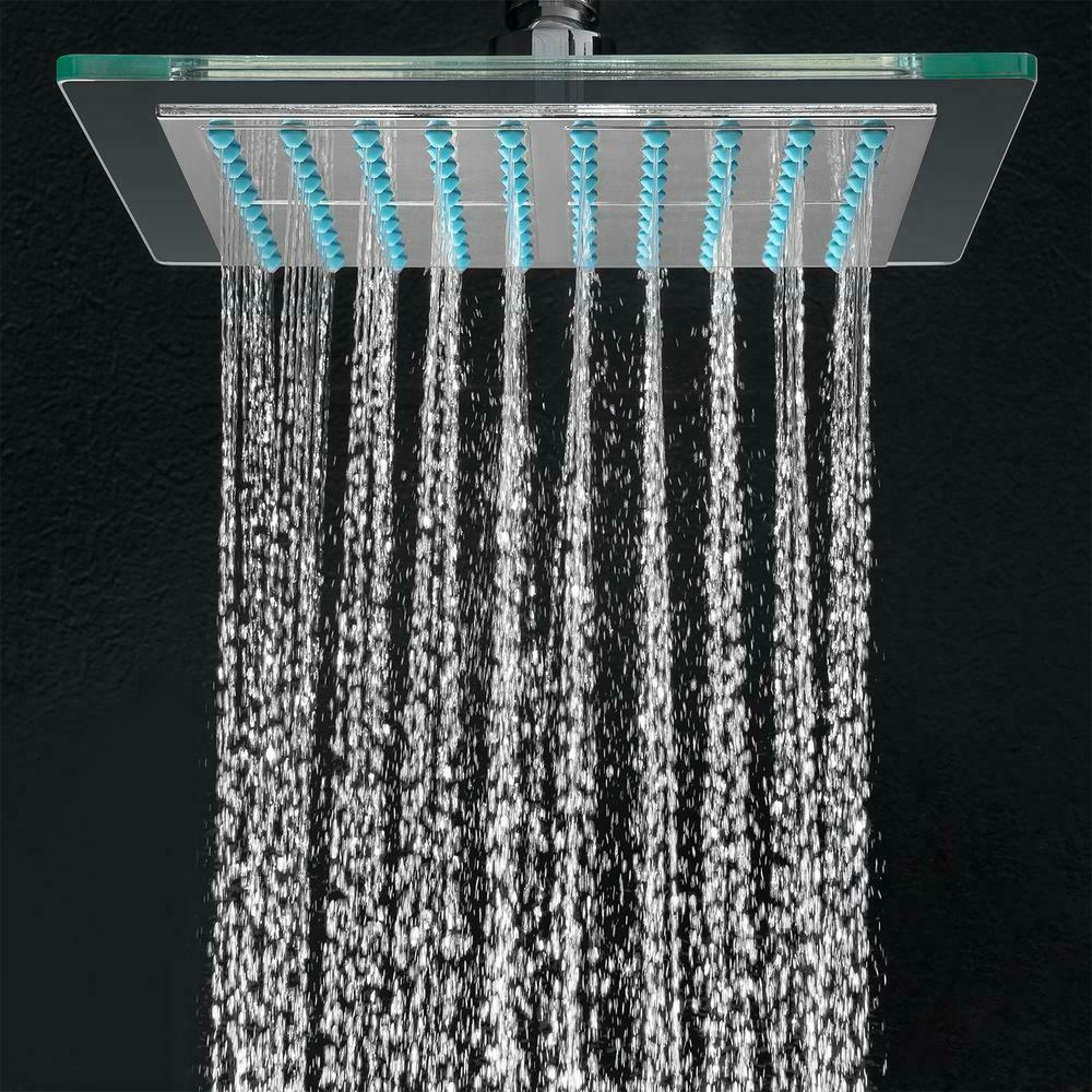 AKDY 1-Spray in. Single Wall Square Fixed Rain Shower in