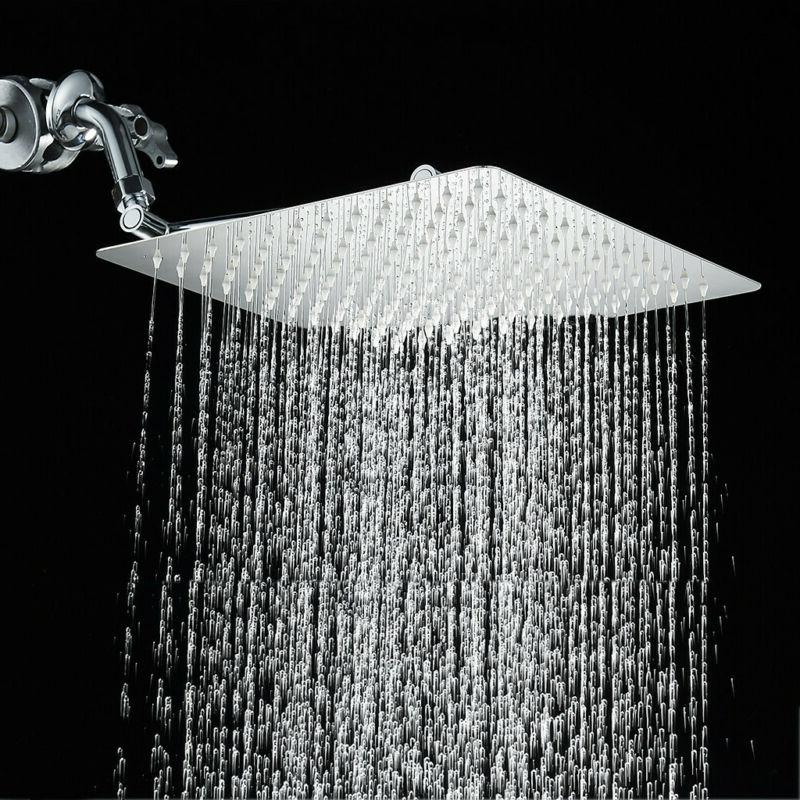 12'' Rainfall Shower Head with Adjustable Extension Arm Fixe