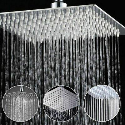 12'' Square Rain Shower Head Stainless Steel High Pressure U