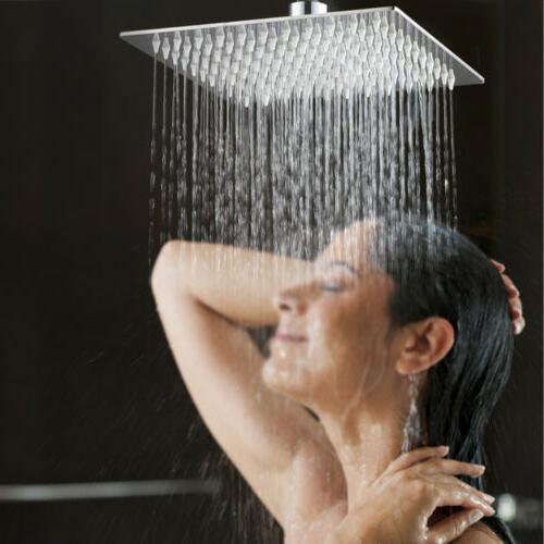 12 Inch Large Square Stainless Steel Shower Head -Rain Showe