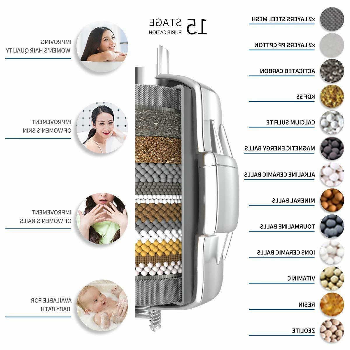 15-Stage Shower Filter Cartridge Vitamin for Hard