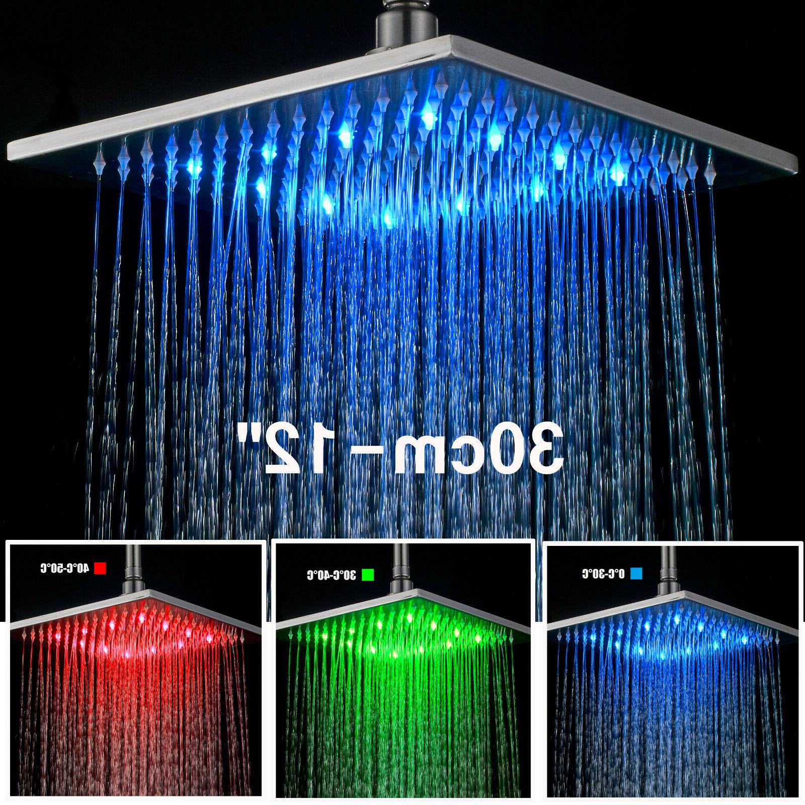 16 Oil Rubbed Bronze Led Rain Shower Head Round