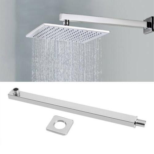 New 16inch 40CM Square Rain Shower Head Wall Mounted Extensi