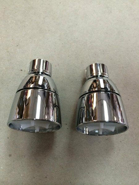 "2 New Mobile Home Shower Heads Only 1/2"" Chrome Plastic"