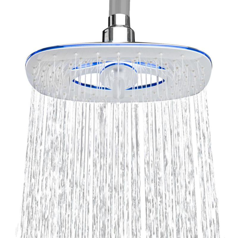2-Spray In. Wall Mount Adjustable Shower Chr