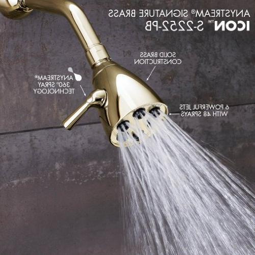 Speakman Anystream High Adjustable 2.5 Brass Shower Head, Brass