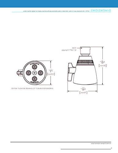 Speakman S-2253-E2 Adjustable 2.0 Head,