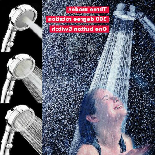3 In Pressure Showerhead Head with ON/Off 3-Setting