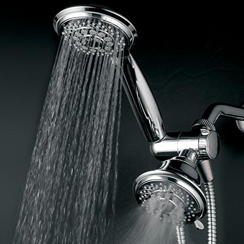 HotelSpa 30-Setting way Handheld Shower Premium 5-Ft 6 x 4 9-Inch,