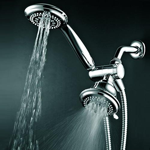 HotelSpa 3-Way Shower Head Handheld Shower with Hose each both shower
