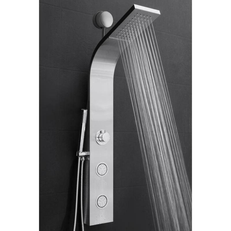 AKDY Shower System 2 Connect Water Head Wand Steel