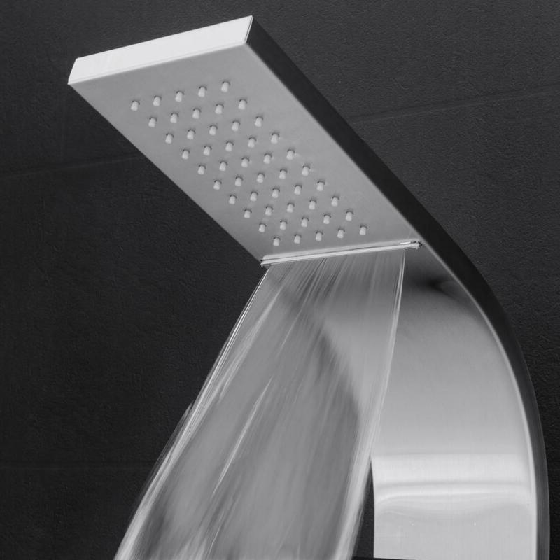 "AKDY 39"" Panel System 2 Jet Connect Rain Fall Head"