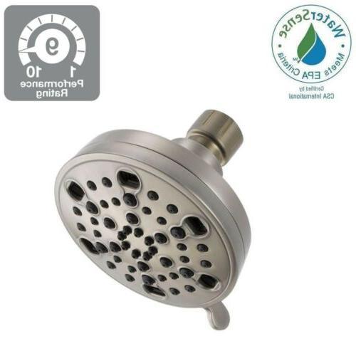 5 h2okinetic shower head brushed