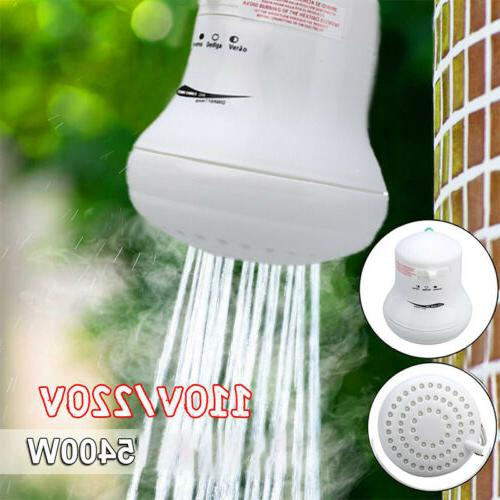 5400W 110V/220V Electric Head Heat Hot Water Heater Bath Tool US