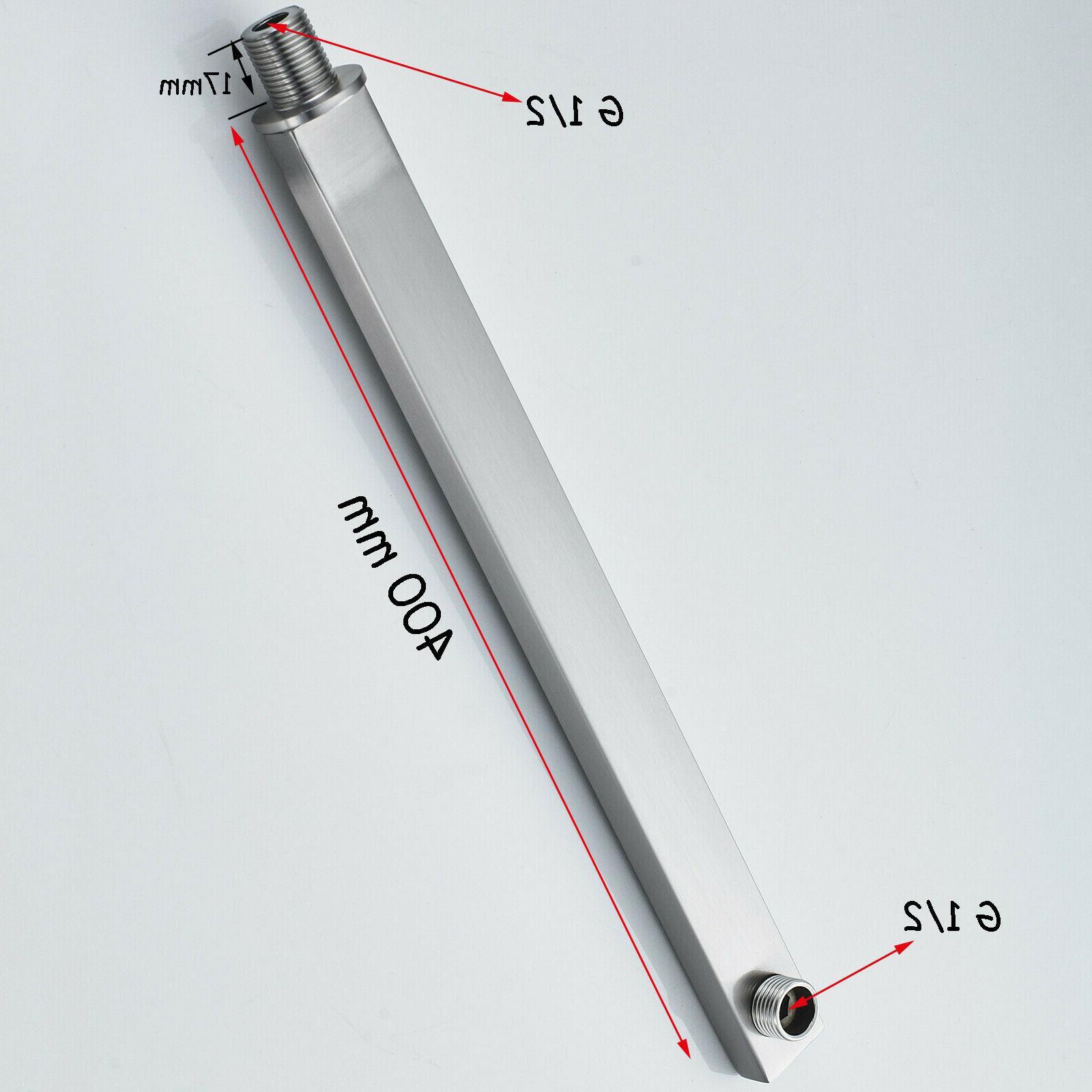 8-inch Square Shower Head Brass Arm