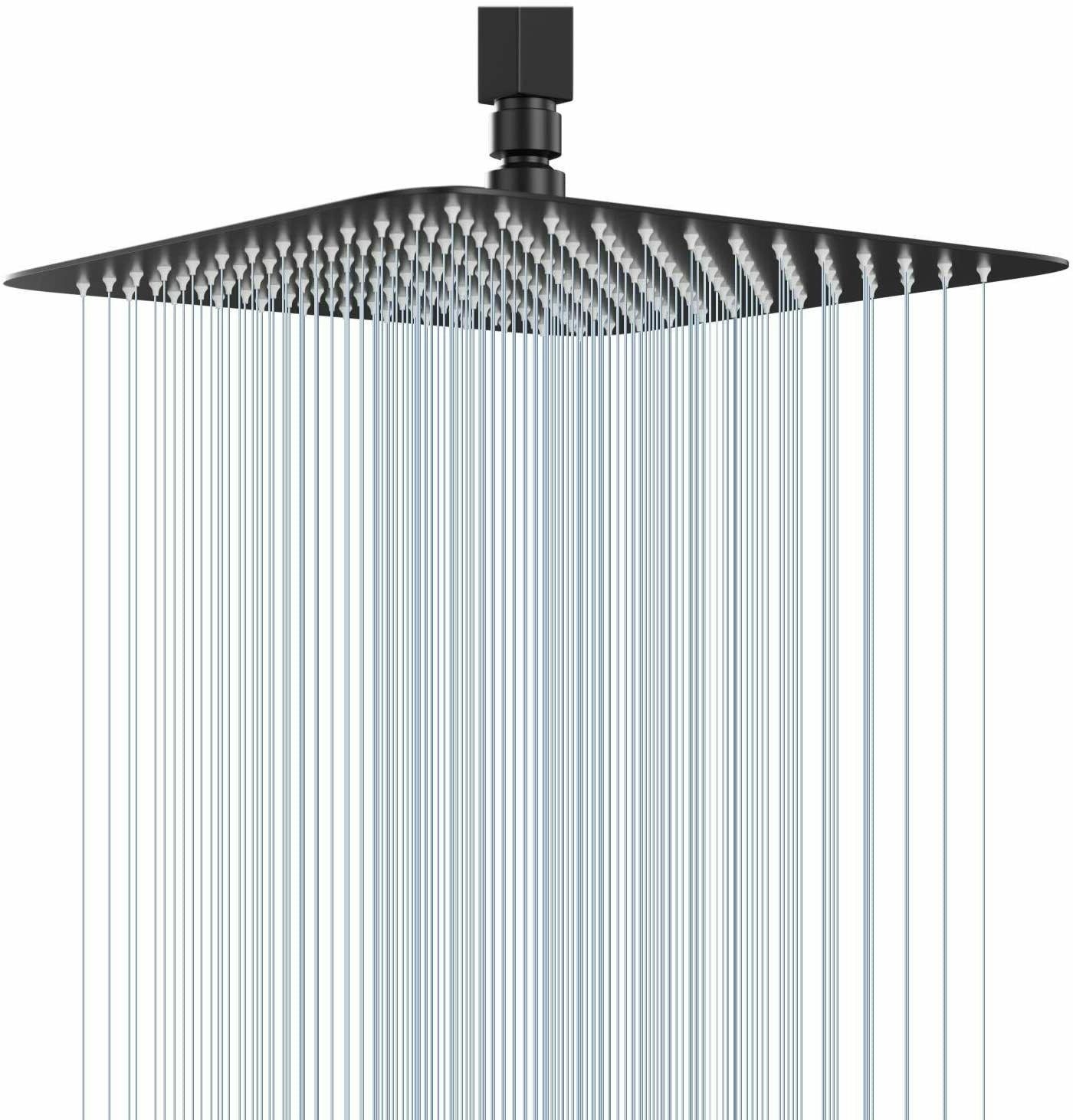 8 inch rainfall shower head square ultra